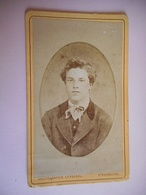 PHOTO CDV 19 EME JEUNE HOMME CHIC   MODE  Cabinet GERSCHEL  A  STRASBOURG - Photographs