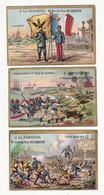 Chromo  A LA PARISIENNE  à Besançon    Lot De 5    Militaires   Cotonou, Tuyen Quan, Kana, Widah...     11.7 X 7.8 Cm - Altri