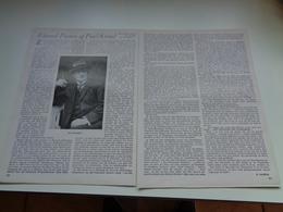 "Origineel Knipsel ( 2328 ) Uit Tijdschrift "" Ons Volk ""  1933 :  Edward Peeters Of Paul Kiroul  Berchem  Sint - Andries - Vieux Papiers"