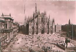 Italia - Milano Piazza Duomo -gel.1949 - Milano (Milan)