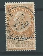 [62_0002] Zegel 62 Met Cirkelstempel Ostende  Scan Voor- En Achterzijde - 1893-1900 Schmaler Bart