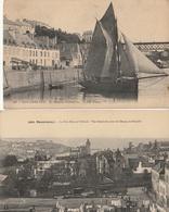 DOUARNENEZ - 2 CPA : Le Port De Commerce - Le Port Rhu Et Tréboul - Douarnenez
