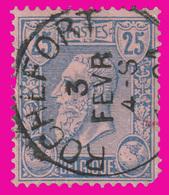 """COB N° 48 - Belle Oblitération """" ROCHEFORT"""" - 1884-1891 Leopold II."""