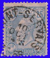 """COB N° 48 - Belle Oblitération """" SAINT-SERVAIS"""" - 1884-1891 Leopold II."""