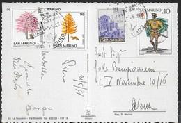 SAN MARINO - CARTOLINA PLURIAFFRANCATA 1981 - Lettres & Documents
