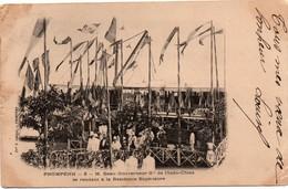 PnomPenh 1904 - Visite M Beau Gouverneur De L'Indochine - Timbre Et Oblitération Au Verso - Cambodge - Cambodge