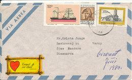 Argentina Air Mail Cover Sent To Denmark 1980 - Poste Aérienne