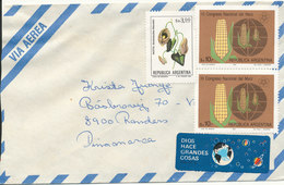 Argentina Air Mail Cover Sent To Denmark (no Postmark On Stamps Or Cover) - Poste Aérienne