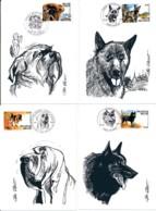 Volledige Set Van 4 Maximum Kaarten – Belgische Hondenras-sen – Brussels Griffon 20-04-2002 Vilvoorde - Perros