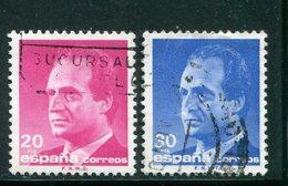 ESPAGNE- Y&T N°2496 Et 2497- Oblitérés - 1981-90 Usados