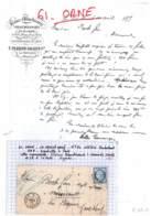61 - ORNE - F-61-1 - LA FERTE MASSE - Lettre Commerciale T.FRANCOIS SALLES&Cie - Blanchisserie Tissu - Généalogie - 1873 - France