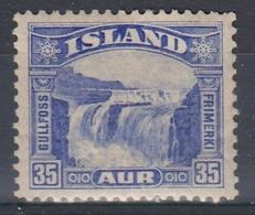 +M307. Iceland 1931. Gullfoss. Michel 152. MH(*) - Nuovi