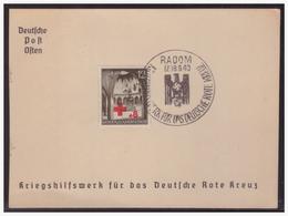 GG (003987) Gedenkkarte Deutsche Post Osten, Kriegshilfswerk Für Das Deutsche Rote Kreuz, MNR 52 Mit SST Radom - Occupation 1938-45