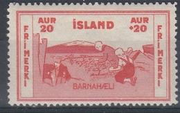 +M308. Iceland 1933. Charity. Michel 169. MH(*) - Nuovi