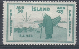+M310. Iceland 1933. Charity. Michel 171. MH(*) - Nuovi