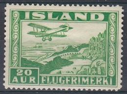+M311. Iceland 1934. Airmail. Michel 176A. MH(*) - Posta Aerea