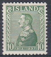 +M314. Iceland 1937. King Christian Jubilee. Michel 187. MH(*) - Nuovi