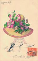J93 - Illustrateur Robert - Femme Art Nouveau - La Mode Du Chapeau à Fleurs 1909 - Robert