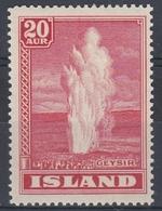 +M317. Iceland 1938. GEYSIR. Michel 194. MH(*) - Nuovi