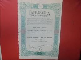 Titre Intégra 500 Francs Liège 1944 - Actions & Titres