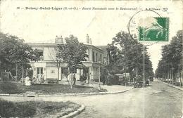 ( BOISSY SAINT LEGER )( 94 VAL DE MARNE ) ROUTE NATIONALE AVEC LE RESTAURANT - Boissy Saint Leger