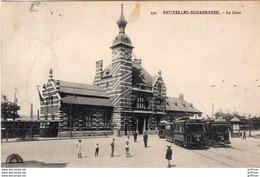 BRUXELLES SCHAERBEEK LA GARE 1912 - Spoorwegen, Stations