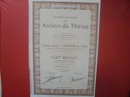 TItre Ateliers Du Thiriau Bois D'Haine 1944 - Shareholdings