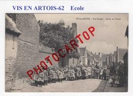 VIS EN ARTOIS-Sortie De L'ECOLE-Rue Denfer-ENFANTS-Periode GUERRE 14-18-1 WK-France-62-Militaria-Feldpost- - France
