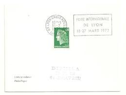 RHONE - Dépt N° 69 = LYON CROIX ROUSSE (4e ARR) 1972 = FLAMME à DROITE =  SECAP 'FOIRE INTERNATIONALE' - Postmark Collection (Covers)