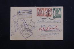 INDE - Entier Postal + Compléments De  Midnapore Pour Godapiasal En 1942 Avec Contrôle Postal - L 60801 - 1936-47  George VI