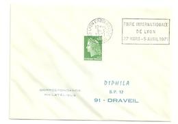 RHONE - Dépt N° 69 = LYON CROIX ROUSSE (4e ARR) 1971 = FLAMME à DROITE =  SECAP 'FOIRE INTERNATIONALE' - Postmark Collection (Covers)