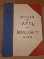 RARE ALBUM DES TIMBRES DE GUERRE DELANDRE + 162 VIGNETTES - Commemorative Labels