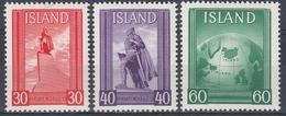 +Iceland 1938. Eriksson. Michel 197-99. MNH(**) - Nuovi