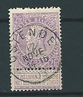 [67_0001] Zegel 67 Met Cirkelstempel Ostende  Scan Voor- En Achterzijde - 1893-1900 Schmaler Bart