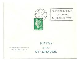 RHONE - Dépt N° 69 = LYON CROIX ROUSSE (4e ARR) 1970 = FLAMME à DROITE =  SECAP 'FOIRE INTERNATIONALE' - Postmark Collection (Covers)