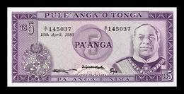 Tonga 5 Pa'anga 1980 Pick 21b SC UNC - Tonga