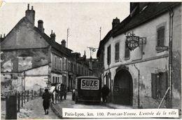 CPA Paris-Lyon Km 100 PONT-sur-YONNE. L'entrée De La Ville (358322) - Pont Sur Yonne