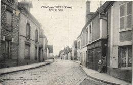 CPA PONT-sur-YONNE - Route De Paris (108470) - Pont Sur Yonne