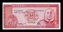 Tonga 2 Pa`anga King Siaosi 1977 Pick 20b SC UNC - Tonga