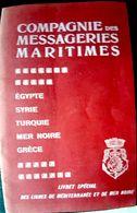 TURQUIE VOYAGES MARITIMES COMPAGNIE DES MESSAGERIES MARITIMES LIVRET HORAIRES ET TARIFS 1908 MER NOIRE  CARTES ET PLANS - Mondo