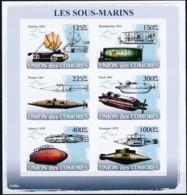 NN - D - [39646]TB//ND/Imperf-NN - Comores 2008 - BL1237/1242, Premiers Sous-marins. - Submarines