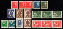 346-355 Schweden-Jahrgang 1949 Komplett, Postfrisch ** - Suède