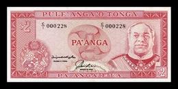 Tonga 2 Pa`anga 1992 Pick 26 Serie C/1 Low Serial SC UNC - Tonga
