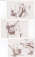 Baarle - Pentekening Van Renaat Van Herwegen - 3 Kaarten - Baarle-Hertog