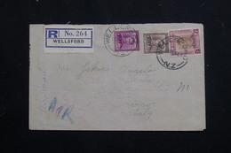 NOUVELLE ZÉLANDE - Enveloppe En Recommandé De Wellsford Pour L 'Italie En 1948, Affranchissement Plaisant - L 60803 - Briefe U. Dokumente
