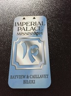 Hotelkarte Room Key Keycard Clef De Hotel Tarjeta Hotel  IMPERIAL PALACE MISSISSIPPI BILOXI - Télécartes