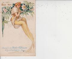SOUVENIR DE LA BELLE JARDINIERE - PARIS  -  LA ROSE DE NOEL  - - Publicité