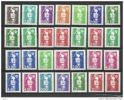 """FR YT 2614 à 3007 """"Ttes Marianne Briat, Hors Roulette Et Adhésif """" 1989-96 Neuf** - 1989-96 Marianne Du Bicentenaire"""