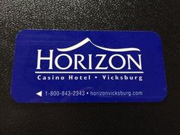 Hotelkarte Room Key Keycard Clef De Hotel Tarjeta Hotel  HORIZON CASINO VICKSBURG - Télécartes