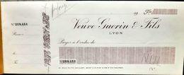 69 LYON VEUVE GUERIN CHEQUIER VIERGE ANNEES 1930 TRES BEL ETAT - Cheques & Traveler's Cheques